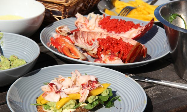 Lobster with avocado and mango